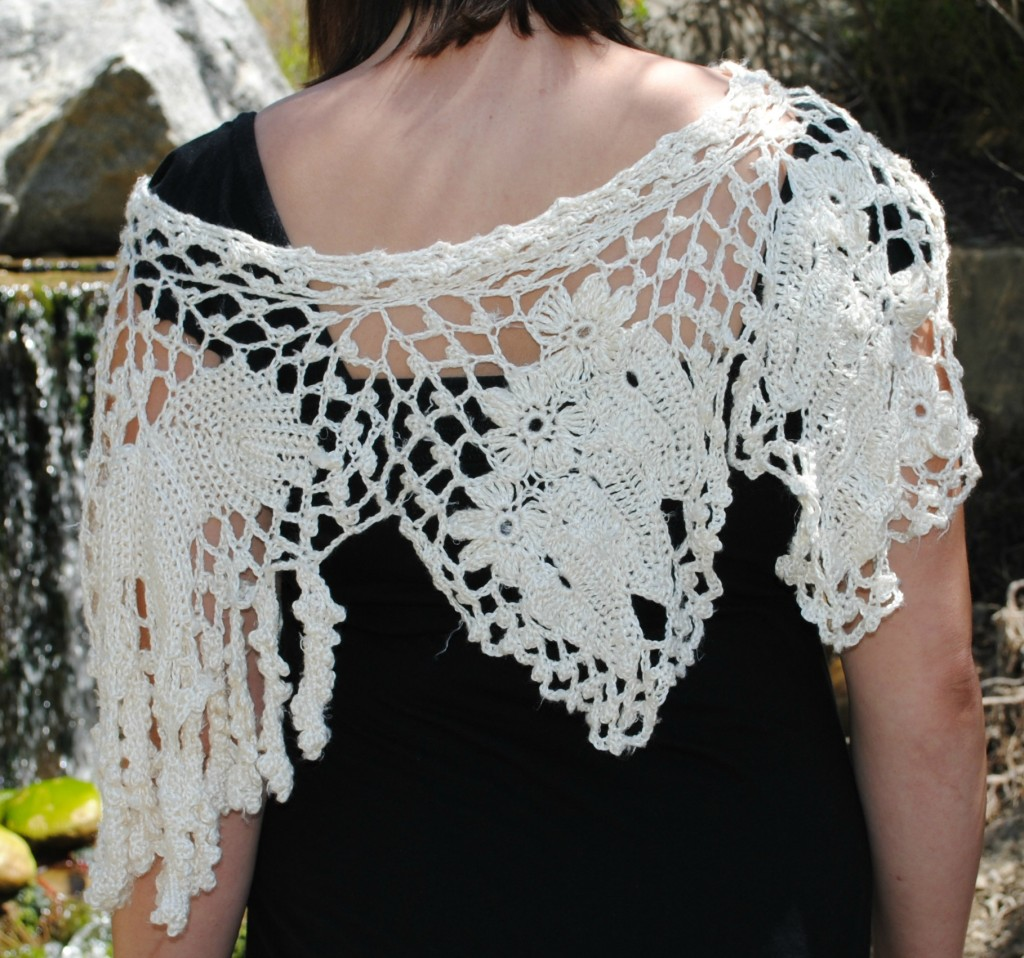 Irish Crochet-inspired Capelet