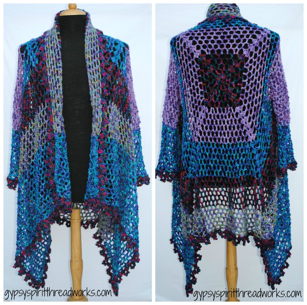Gypsy Spirit Crocheted Duster