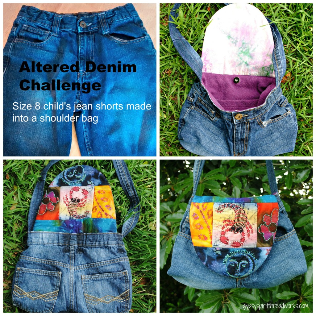 Altered Denim Challenge collage text